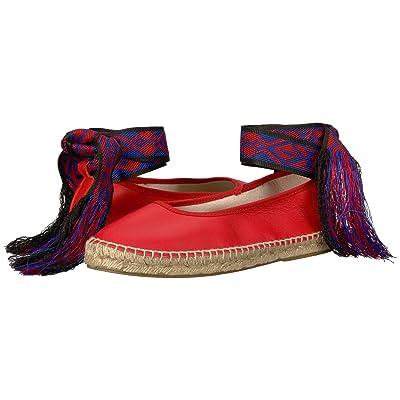 Free People Maya Wrap Espadrille (Red) Women