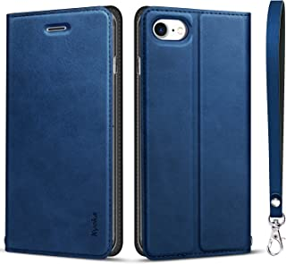 iphone8 ケース iphone7ケース 手帳型 [カード収納 スタンド機能] 衝撃吸収 マグネット式 アイフォン8/7ケース スマホケース 全面保護カバー
