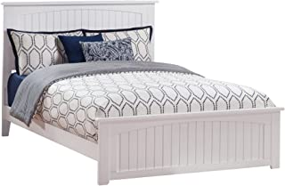 Atlantic Furniture Nantucket Traditional Bed with Matching Foot Board, Queen, White