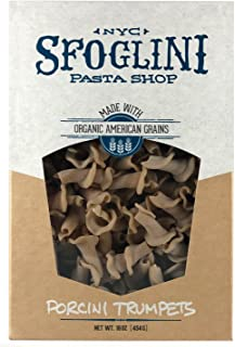 Sfoglini—Porcini Trumpets—Made with Traditional Techniques & Wholesome Organic Grain with an Earthy Mushroom Flavor—6-16oz Boxes