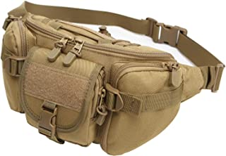 DYJ Tactical Fanny Pack Military Waist Bag Pack Utility Hip Pack Bag with Adjustable Strap Waterproof for Outdoors Fishing Cycling Camping Hiking Traveling Hunting Shopping Dog Walking
