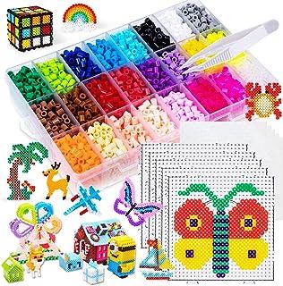 Fuse Bead Kits Pegboard Plastic Trays Tweezer Ironing Paper for Perler Beads