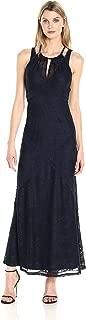London Times Women's Sleeveless Lace Maxi Dress