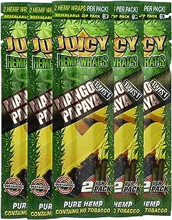 Juicy Jay Hemp Wraps Mango Papaya (5 Packs, 2 Wraps Per Pack) Total 10 Wraps with ES Scoop Card