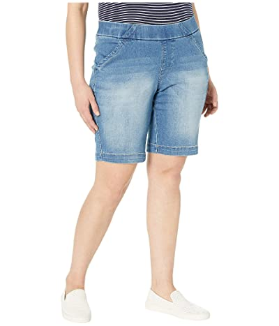 Jag Jeans Plus Size Gracie Pull-On Bermuda Shorts (Horizon Blue) Women