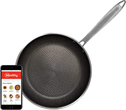 Mealthy NonStick Hybrid 10-inch frying pan, 5-ply cookware, metal utensil safe non-stick, induction ready & oven safe, includes spatula
