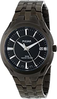 Pulsar Men's Black Stainless Steel Band Watch - PXHA27