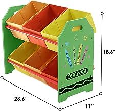 Kiddi Style Cajas Almacenaje Juguetes - Madera - Par Ninos -Diseño de ceras de colores