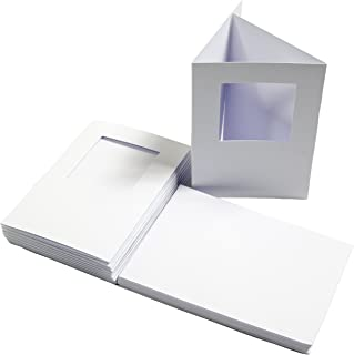 The Paper Palace 10 White A6 3 Fold Square Aperture Cards and Envelopes, 15 x 20 x 5 cm