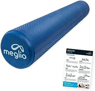 Navaris Rodillo para Pilates de 90CM Foam Roller para fortalecimiento Muscular en Morado Rodillo de Espuma para Masaje Fitness y Yoga
