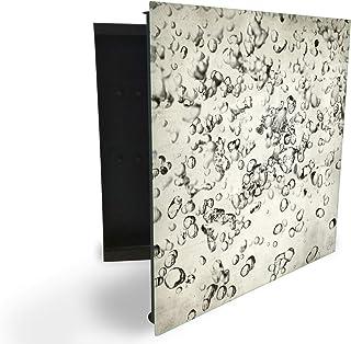 Armoire à clés 30 x 30 cm avec façade en verre magnétique 61772635