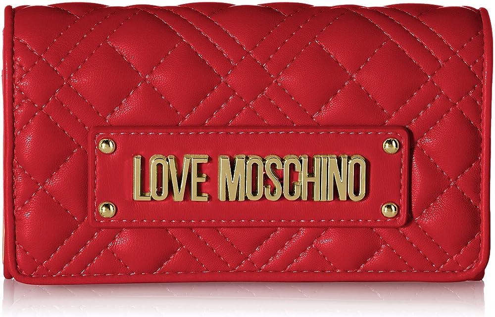 Love moschino precollezione ss21,  portafoglio da donna, porta carte di credito, AS21MO16