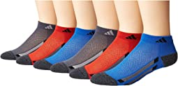 adidas Kids - Vertical Stripe Low Cut 6-Pack (Toddler/Little Kid/Big Kid/Adult)