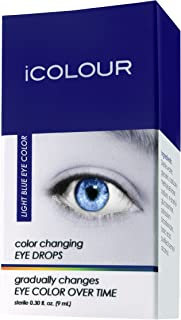 iCOLOUR Color Changing Eye Drops - Change Your Eye Color Naturally - 1 Month Supply - 9 mL (Light Blue)