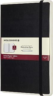 "Moleskine Paper Tablet Hard Cover Smart Notebook, Ruled, Large (5"" x 8.25"") Black - Compatible w/ Moleskine Pen+ Ellipse (Sold Separately) & App, Digitize & Organize Notes, Bullet Journal, 176 Pages"
