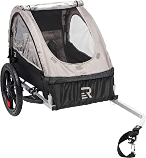 Retrospec Rover Kids Bicycle Trailer Single and Double Passenger Children's Foldable Tow Behind Bike Trailer with 16