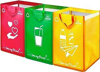 Janaa♻️Poubelle Tri Selectif {Design} Kit de 3 Sacs pour le Tri Sélectif des Déchets. Capacité 120L.Parfait pour le Recycl...