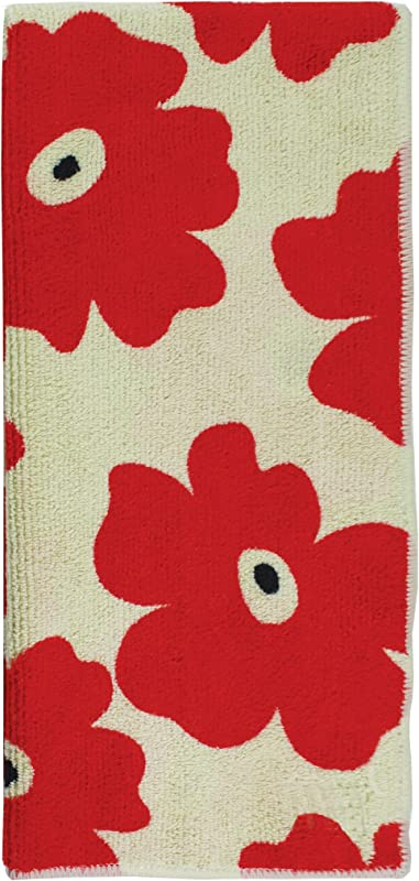 MUkitchen Microfiber Dishtowel 16 By 24 Inches Red Poppy