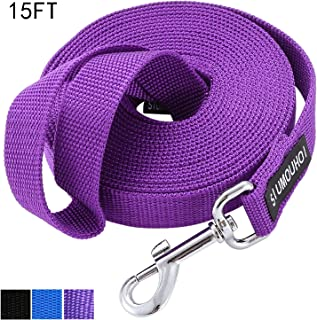 Siumouhoi Strong Durable Nylon Dog Training Leash, 1 Inch Wide Traction Rope, 6 ft 10ft 15ft Long, for Small and Medium Dog