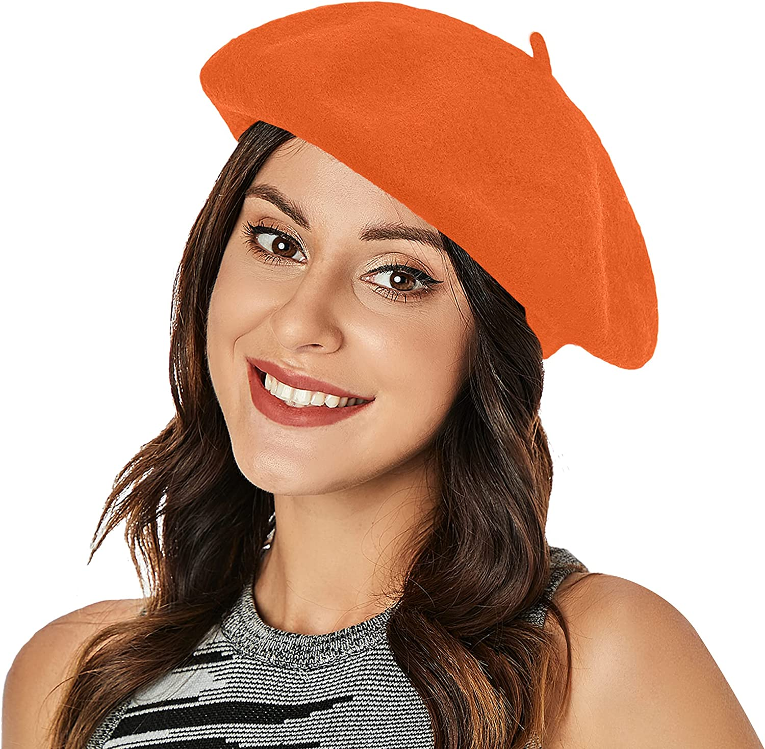Wool Beret Hat French Beret Cap Winter Artist Painter Hat Solid Color for Women