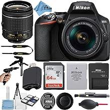 Nikon D3500 24.2MP DSLR Digital Camera with NIKKOR 18-55mm VR Lens + SanDisk 64GB Memory Card + Hi-Speed USB Card Reader +...