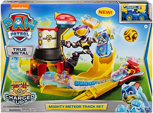 PAW PATROL SM6055696 True Metal Mighty Pups: Mighty Meteor Track Set