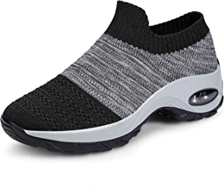 incarpo Ladies Trainers Womens Walking Shoes Comfortable Mesh Sneakers Lightweight Slip-On Casual Trainers