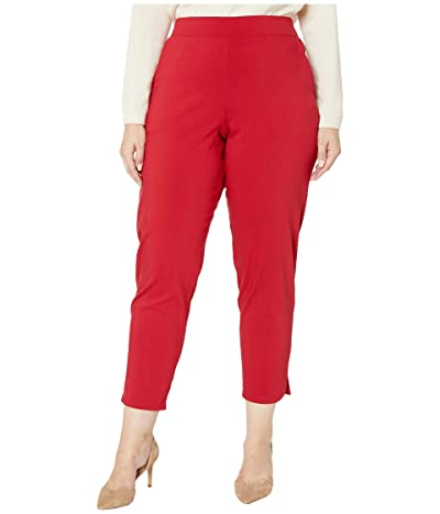 HUE Plus Size Temp Tech Trouser Leggings (Deep Red) Women