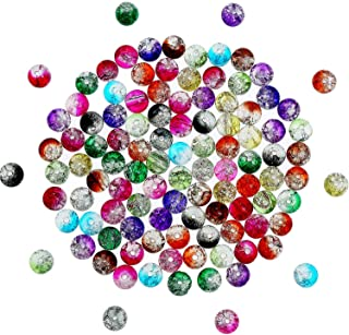 Perle verre craquelé 6mm LOT DE 200 ronde couleur assortie CREATION BIJOUX