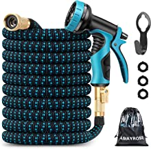 Amayrose Garden Hose Expandable Water Hose with 9 Function Spray Nozzle, Leakproof..