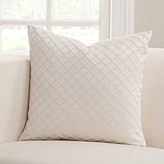 SIScovers Lyra Ivory Square Decorative Accent Pillow 16 x 16