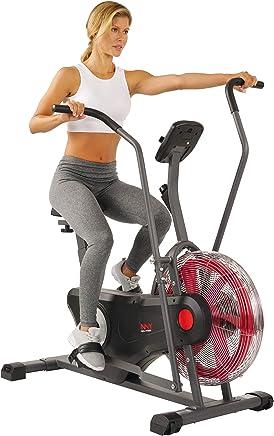 Sunny Health & Fitness Bicicleta de Aire Entrenadora, Bicicleta de Ejercicio con Ventilador y Resistencia Ilimitada, Cross Training para Casa - SF-B2640 de