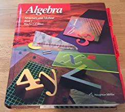 Algebra, Structure and Method,Book 1, Teacher's Edition 1994 ISBN 9780395676097 0395676096