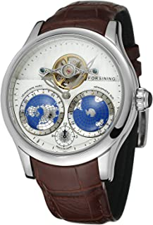 FORSINING Men's Brand Automatic Movement Stainless Steel Case World Map Dial Wrist Watch FSG9413M3S2