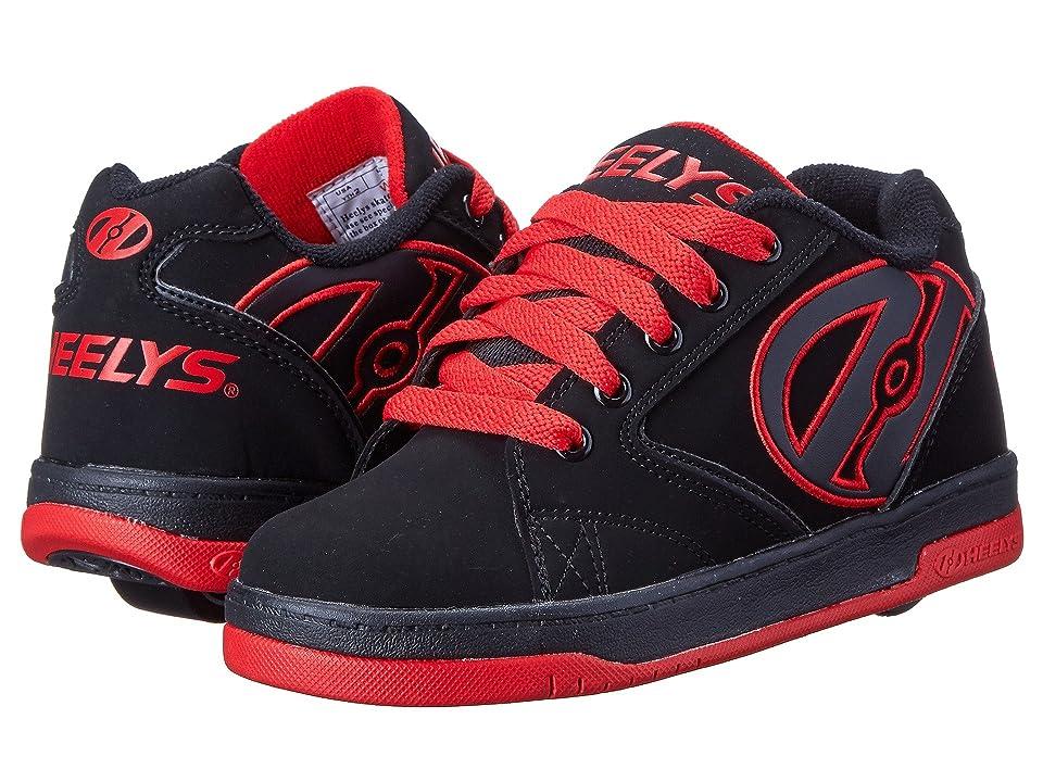 Heelys Propel 2.0 (Little Kid/Big Kid/Adult) (Black/Black/Red) Boys Shoes