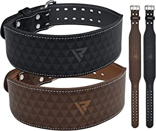 """RDX Weight Lifting Belt 4"""" Cow Hide Leather Back Support Double Prong Gym Training Fitness Exercise Workout Bodybuilding"""
