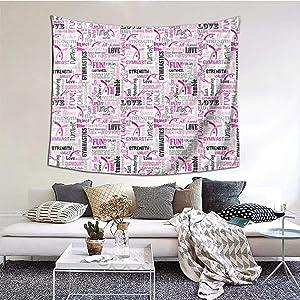 ZVEZVIZVEZVI Tapiz, tapices de Pared de Gimnasia, Tela Decorativa de Interior para Colgar en la Pared para Sala de Estar, Dormitorio, 60 x 51 Pulgadas