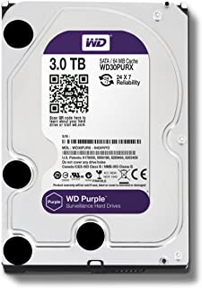 HD - 3.000GB (3TB) / 5.400RPM / SATA3 / 3,5pol - Western Digital Purple - WD30PURX / WD30PURZ