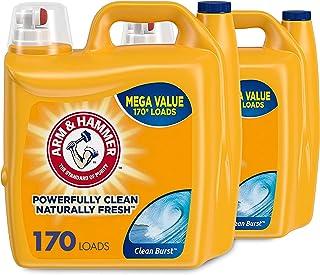 Arm & Hammer Liquid Laundry Detergent, Clean Burst, 170 Loads, 255 Fl Oz (2 pack)