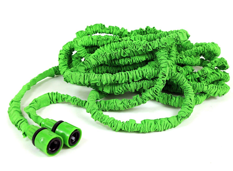 Manguera de jardín manguera de agua flexible 30 metros ausgedehnt 1/2 pulgadas Manguera Sistema de Riego verde: Amazon.es: Bricolaje y herramientas