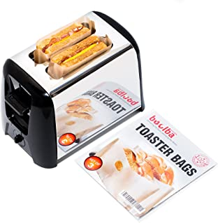 Toaster Bags (set of 3) | Grilled Cheese Made Easy | Non Stick Reusable Easy to Clean | Gluten Free Sandwich Toast