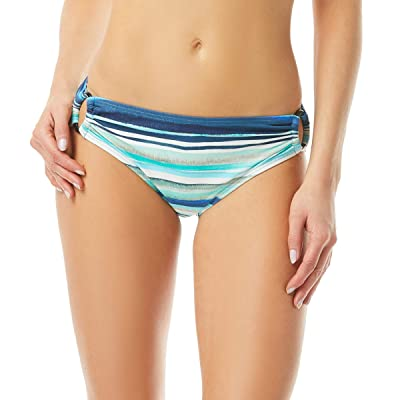 Carmen Marc Valvo Palermo Waters Stripe Ring Side Detail Bottoms (Midnight) Women