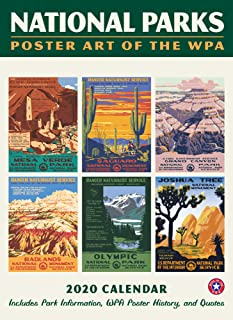 "National Parks Posters WPA Calendar Wall Calendar 2020 Monthly January December 8.75'' x 12"" Home Decor"