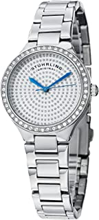 Stuhrling Original Women's 683.01 Symphony Swiss Quartz Crystal Dial Silver Watch