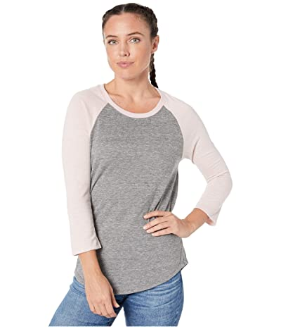 Alternative Jersey Baseball T-Shirt (Eco Grey/Eco Rose Quartz) Women