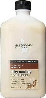 Everyday Isle of Dogs Silky Coating Dog Conditioner, Jasmine & Vanilla, 16.9 Ounce
