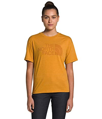 The North Face Half Dome Short Sleeve Tri-Blend Tee (Citrine Yellow Heather) Women