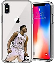 Epic Cases iPhone 6 Plus iPhone 7/iPhone 8 Plus Case Ultra Slim Crystal Clear Basketball Series Soft Transparent TPU Case Cover Apple (Greek Freak, iPhone 6/7/8 Plus)
