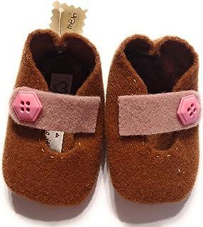 Scarpina scarpa lana 3-6 mesi bambino bambina fatta a mano