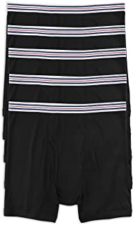 Harbor Bay by DXL Big and Tall 5-pk Boxer Briefs, Black